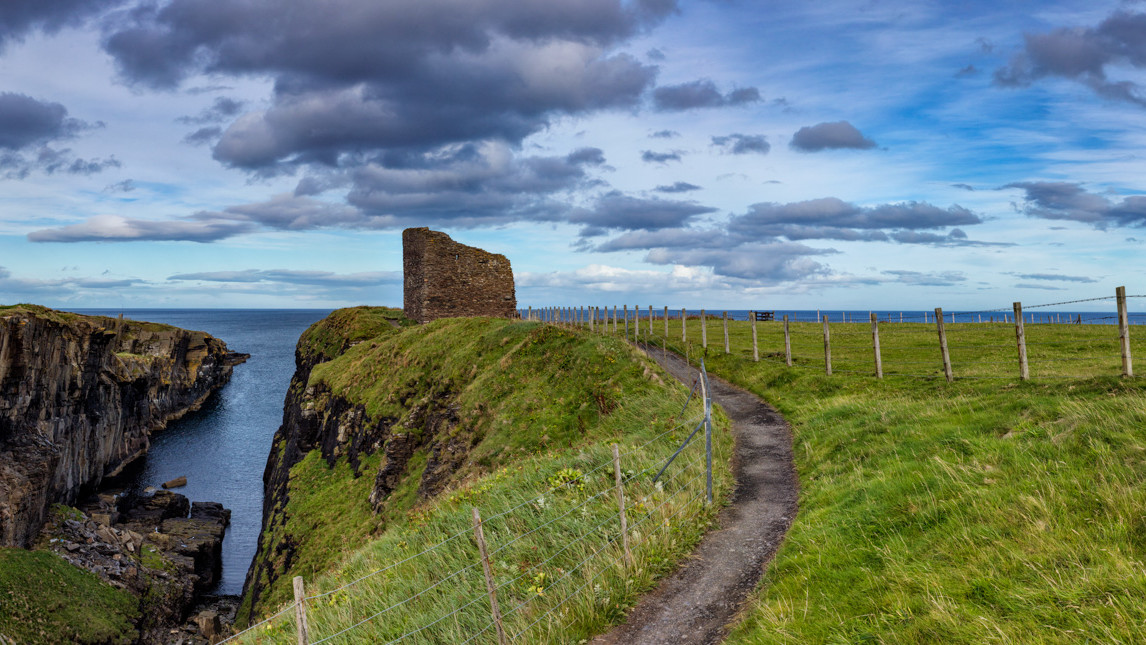 Panoramique du Castle of Old Wick